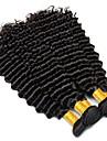 3 Связки Перуанские волосы Кудрявый / Крупные кудри Натуральные волосы Человека ткет Волосы 8-28 дюймовый Черный Естественный цвет Ткет человеческих волос