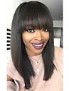 100% Virgin Remy Human Hair Lace Front Wig Brazilian Hair Straight Wig Bob Short Bob 130% Density Women\'s Short Human Hair Lace Wig beikashang