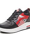 Pentru femei Pantofi PU Primăvară Confortabili Adidași Toc Platformă Negru / Gri