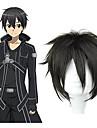 SAO Alicization Kirito Men\'s 12 inch Heat Resistant Fiber Black Anime Cosplay Wigs