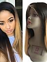Cabello Natural Remy Unbearbeitet Echthaar Spitzenfront Peruecke Stil Brasilianisches Haar Glatt Hellbraun Peruecke 130% Haardichte mit Babyhaar Natuerlicher Haaransatz Unverarbeitet Gebleichte Knoten