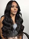 человеческие волосы Remy Полностью ленточные Парик стиль Бразильские волосы Волнистый Естественные кудри Парик 130% Плотность волос с детскими волосами Природные волосы Отбеленные узлы Жен. Длинные