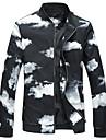 Bărbați Stand Mărime Plus Size Jachetă Bloc Culoare / Manșon Lung