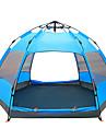 TANXIANZHE® -8 אנשים Automatic Tent חיצוני עמיד למים מוגן מגשם עמיד ללחות שכבה כפולה אוטומטי Dome קמפינג אוהל 1500-2000 mm ל צעידה קמפינג לטייל רשת PU 270*270*150 cm