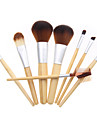 8stk Make-up pensler Professionel Brush Sets -ko Venlig / Blød Bambus
