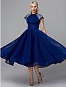 Prințesă Gât Înalt Lungime Tea Tulle Petrecere Cocktail / Bal Rochie cu Paiete de TS Couture®