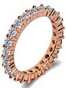 Pentru femei Stl Band Ring Inel - Placat cu platină, Placat Cu Aur Roz, Diamante Artificiale Binecuvântat, Credinţă Clasic, La modă, Modă 5 / 6 / 7 / 8 / 9 Argintiu / Roz auriu Pentru Cadou Gril pe
