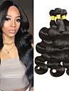 3 Bundler malaysisk hår Bølget 8A Menneskehår Menneskehår, Bølget Udvidelse 8-28 inch Sort Naturlig Farve Menneskehår Vævninger Ny ankomst 100% Jomfru Menneskehår Extensions Dame Unisex