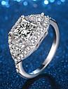 Γυναικεία Με κοψίματα Κομψό Δακτύλιος Δήλωσης Δαχτυλίδι Επιμεταλλωμένο με Πλατίνα Προσομειωμένο διαμάντι Πολύτιμος κυρίες Μοναδικό Μοντέρνο Κομψό Μοδάτο Δαχτυλίδι Κοσμήματα Ασημί Για