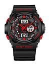 SANDA Heren Sporthorloge Digitaal horloge Japans Digitaal Zwart 30 m Waterbestendig Kalender Stopwatch Analoog-Digitaal Luxe Modieus - Groen Blauw Goud / s Nachts oplichtend / Maanfase
