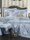 Bettbezug-Sets Luxus Polyester Jacquard 4 StueckBedding Sets / 300 / 4-teilig (1 Bettbezug, 1 Bettlaken, 2 Kissenbezuege)
