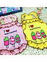 Honden Katten Gilet Hondenkleding Eenvoudig Hart Citaten & Gezegdes Geel Roze Katoen Kostuum Voor Lente & Herfst Zomer Vrouw Casual / Dagelijks Eenvoudige Stijl