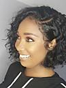 Remy kosa Lace Front Perika Bob frizura Kardashian stil Brazilska kosa Water Wave Crna Perika 130% Gustoća kose s dječjom kosom Prirodna linija za kosu Izbijeljeni čvorovi Natural Crna Žene 8-14
