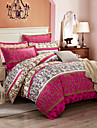Ensembles housse de couette Fleur 100% Coton Imprime 4 PiecesBedding Sets / 400
