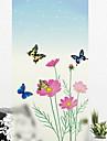 Okenní film a samolepky Dekorace Jednoduchý Květinový / Jednoduchý PVC Nálepka na okna
