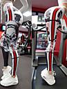 نسائي السراويل اليوغا أبيض رياضات جماجم سباندكس الجوارب الدراجات زومبا ركض Fitness ألبسة رياضية متنفس ضغط Push Up عالية المرونة ضيق / بعقب رفع