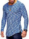T-shirt Per uomo Essenziale Collage, Tinta unita Rotonda - Cotone / Manica lunga / Taglia piccola