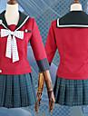 Inspirado por Dangan Ronpa Harukawa Maki Anime Disfraces de cosplay Trajes Cosplay A Lunares / Lazo / Tartan Panuelo / Faldas / Top Para Mujer