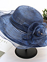 Organza / Straw Hats with Flower 1pc Wedding / Party / Evening Headpiece
