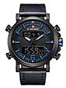 NAVIFORCE Ανδρικά Αθλητικό Ρολόι Στρατιωτικό Ρολόι Ψηφιακό ρολόι Ιαπωνικά Γιαπωνέζικο Quartz Γνήσιο δέρμα Μαύρο / Καφέ 30 m Ανθεκτικό στο Νερό Συναγερμός Ημερολόγιο Αναλογικό Ψηφιακό / Ενας χρόνος