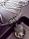 Γυναικεία Κρυστάλλινο Σύνδεσμος / Αλυσίδα Κρεμαστά Κολιέ μακρύ κολιέ κυρίες Ευρωπαϊκό Υπερβολή Απίθανο Ασημί 60 cm Κολιέ Κοσμήματα 1pc Για Κλαμπ Μπαρ