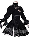 Inspire par NieR: Automates 2B Manga Costumes de Cosplay Costumes Cosplay Anime / Floral / Botanique Robe / Gants / Resille Pour Femme