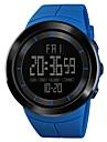 SKMEI Heren Sporthorloge Militair horloge Digitaal horloge Japans Digitaal Gewatteerd PU-leer Zwart / Blauw / Rood 50 m Alarm Chronograaf Dubbele tijdzones Digitaal Informeel Modieus - Groen Blauw