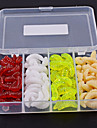 100 pcs Csali Soft Bait gliste plastika Jednostavan za korištenje Floating Morski ribolov Pecanje na mušicu Mamac Casting / Ice ribolov / Vrtložno / Jigging Ribolov / Slatkovodno ribarstvo