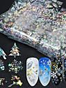 16 pcs Foil Sticker Cartoon Series / Snowflake nail art Manicure Pedicure New Design / Best Quality Statement / Trendy Christmas / Halloween / Party / Evening