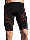 SANTIC Ανδρικά Σορτς ποδηλασίας με επιθέματα - Μαύρο Ριγέ Ποδήλατο Κοντά Παντελονάκια Σορτσάκια με Μαξιλαράκια Παντελόνια Αναπνέει 3D Pad Γρήγορο Στέγνωμα Αθλητισμός Πολυεστέρας Spandex Coolmax®