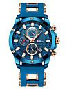 Ανδρικά Αθλητικό Ρολόι Ρολόι Καρπού Ιαπωνικά Γιαπωνέζικο Quartz σιλικόνη Μπλε 30 m Ημερολόγιο Καθημερινό Ρολόι Απίθανο Αναλογικό Πολυτέλεια Μοντέρνα - Μπλε Ενας χρόνος Διάρκεια Ζωής Μπαταρίας