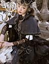 القوطية لوليتا عتيق جوثيك لوليتا شيفون دانتيل انثى فساتين تأثيري أسود جولييت كم طويل ميدي ازياء