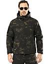 Hunting Jacket / Hunting Fleece Jacket Men\'s Windproof / Rain-Proof Camouflage Softshell Jacket Long Sleeve for