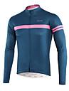 Arsuxeo Hombre Manga Larga Maillot de Ciclismo - Azul Real Bicicleta Top Bolsillo trasero Reductor del Sudor Deportes Polyster Ciclismo de Montana Ciclismo de Pista Ropa / Microelastico / triatlon