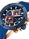 MINI FOCUS Heren Sporthorloge Kwarts Silicone Zwart 30 m Stopwatch Vrijetijdshorloge Cool Analoog Informeel Modieus - Blauw / Zwart Rood Blauw Een jaar Levensduur Batterij / Grote wijzerplaat