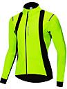 WOSAWE Herre Dame Cykeljakke Cykel Jakke Trøje Vandtæt Vindtæt Sport Vinter Grøn Bjerg Cykling Vej Cykling Tøj Regulær Cykeltøj