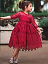 Prinsesse Cinderella Vintage Kostume Jente Kjoler Party-kostyme Flapper Dress Hvit / Roed Vintage Cosplay Blonde Halvlange ermer T-skjorte