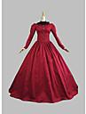 Victoriano Medieval siglo 18 Disfraz Mujer Vestidos Ropa de Fiesta Baile de Mascaras Corte Cenicienta Rojo Cosecha Cosplay Tela de Encaje Fiesta Fiesta de baile Manga Larga Longitud Larga Salon