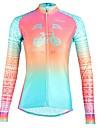 ILPALADINO Жен. Длинный рукав Велокофты - Пурпурный Мода Велоспорт Верхняя часть Ультрафиолетовая устойчивость Виды спорта Зима Эластан Горные велосипеды Шоссейные велосипеды Одежда