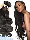 4 Bundles Brazilian Hair Body Wave 8A Human Hair Unprocessed Human Hair Headpiece Natural Color Hair Weaves / Hair Bulk Hair Care 8-28 inch Natural Color Human Hair Weaves Smooth Cool Thick Human