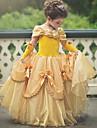 Prinsesse Belle Vintage Kostume Jente Kjoler Party-kostyme Lilla / Gul / Rosa Vintage Cosplay Ermeloes T-skjorte