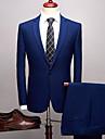 Ensfarget Standard Spandex / polyster Dress - Med hakk Enkelt Brystet Enn-knapp