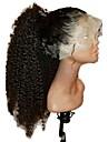 Virgin kosa Full Lace Perika Stepenasta frizura stil Malezijska kosa Kinky Curly Crna Perika 130% Gustoća kose s dječjom kosom Prirodna linija za kosu Afro-američka perika 100% rađeno rukom Crna Žene
