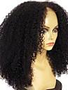 Remy kosa Lace Front Perika Stepenasta frizura Rihanna stil Brazilska kosa Afro Kinky Crna Perika 180% Gustoća kose s dječjom kosom Prirodna linija za kosu Afro-američka perika neprerađenih Crna Žene