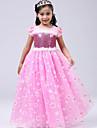 Elsa Disfrace de Cosplay Chica Ninos Halloween Navidad Halloween Carnaval Festival / Celebracion Tul Algodon Accesorios Azul / Rosa Princesa