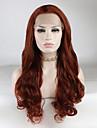 Synthetische Lace Front Peruecken Locken Stil Freier Teil Spitzenfront Peruecke Rot Rot Synthetische Haare 18-26 Zoll Damen Verstellbar / Spitze / Hitze Resistent Rot Peruecke Lang 180% Human Hair Dichte