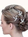 Crystal Hair Accessory with Pearl 3 Pieces Wedding Headpiece