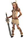 Pirate Viking Costume Movie Cosplay Beige Dress Headwear Wrist Brace Halloween Carnival Masquerade Polyster