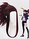 Cosplay Akali KDA All 16 inch Heat Resistant Fiber Purple Anime Cosplay Wigs
