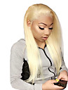 Unbehandeltes Haar Vollspitze Peruecke Gaga Stil Brasilianisches Haar Glatt Blond Peruecke 130% Haardichte mit Babyhaar Beste Qualitaet Schlussverkauf mit Clip Blond Damen Mittlerer Laenge Echthaar